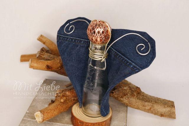 Deko Engel Glas Jeans - Kreativwerkstatt