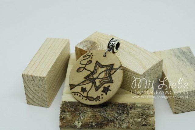 Holzmedaillon Stern