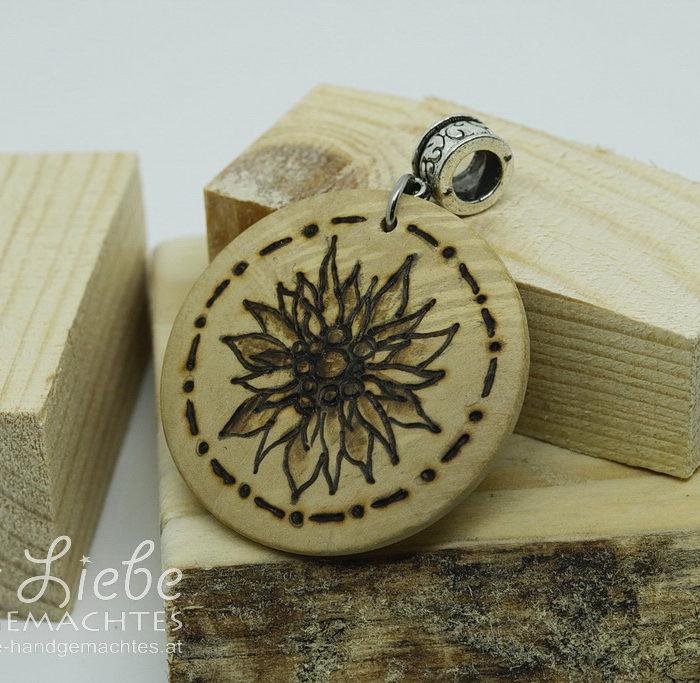 Holzmedaillon Edelweiß - Kreativwerkstatt