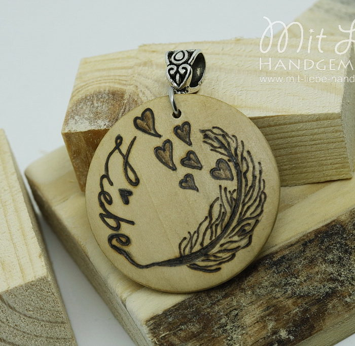 Holzmedaillon Liebe - Kreativwerkstatt