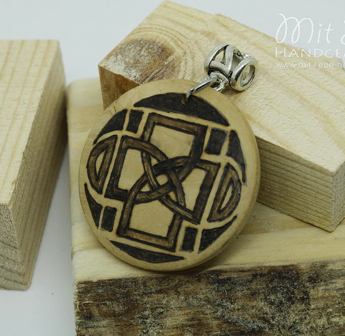 Holzmedaillon Keltenzeichen - Kreativwerkstatt